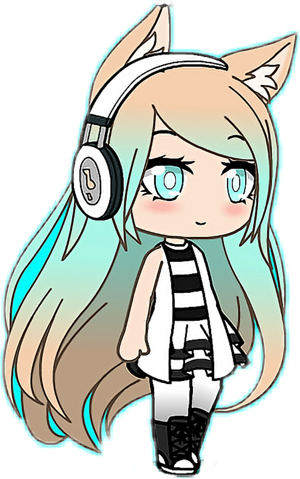 gacha Life Sticker by gachagalaxy1 Chibi anime