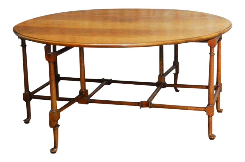 Diminutive Queen Anne Style Mahogany Drop Leaf Or Gate Leg Coffee Tail Table By Baker Furniture
