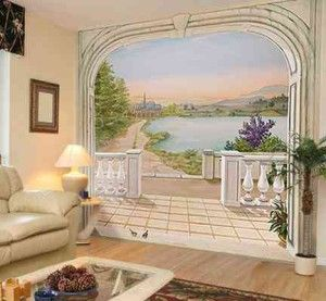 trompe loeil mural interieur google search