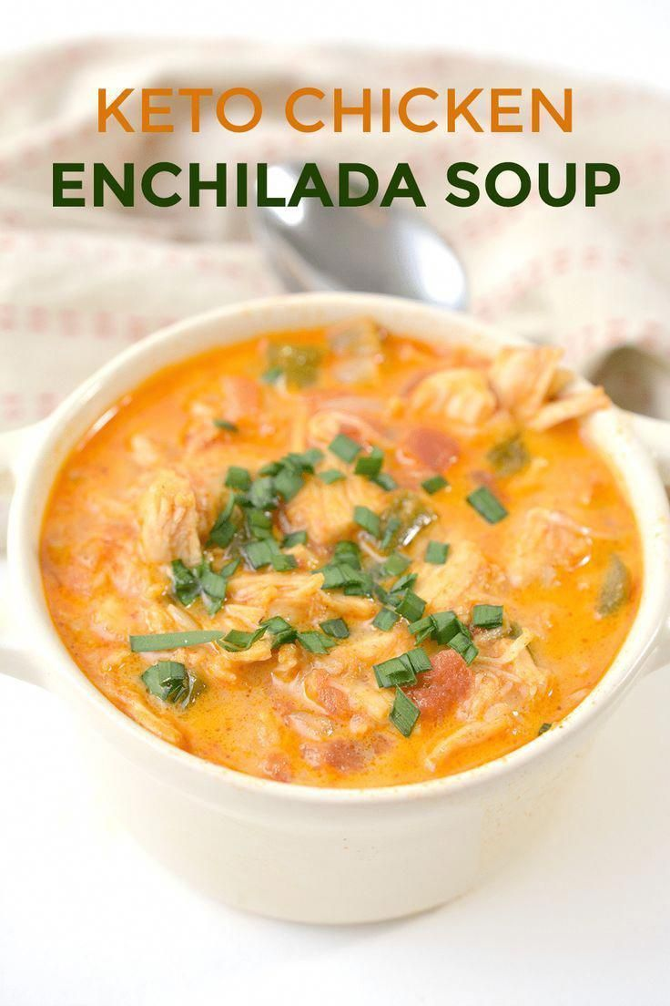 Looking for an easy and healthy keto chicken enchilada soup recipe? Look no further because I have the PERFECT low carb recipe! It's creamy, has plenty of cheese, and is even made on the stovetop in under 30 minutes. It will be a crowd pleaser for the whole family - including the picky kids. #kidfriendly #ketorecipe #easyrecipes #lowcarb #dinnerrecipes #healthyrecipes #Ketogenic