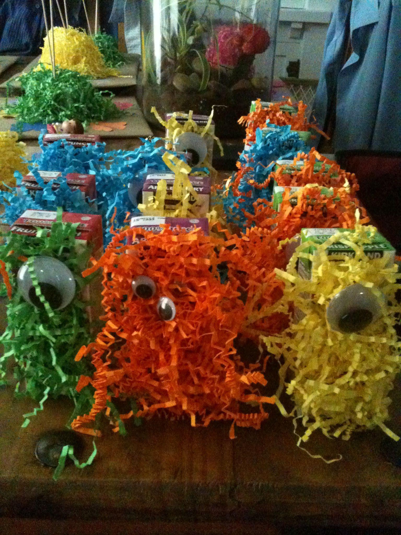 Monster party juice boxes!   Easton   Pinterest