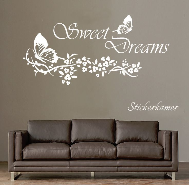 Muurtekst slaapkamer Sweet dreams vlinder - Muursticker teksten en ...
