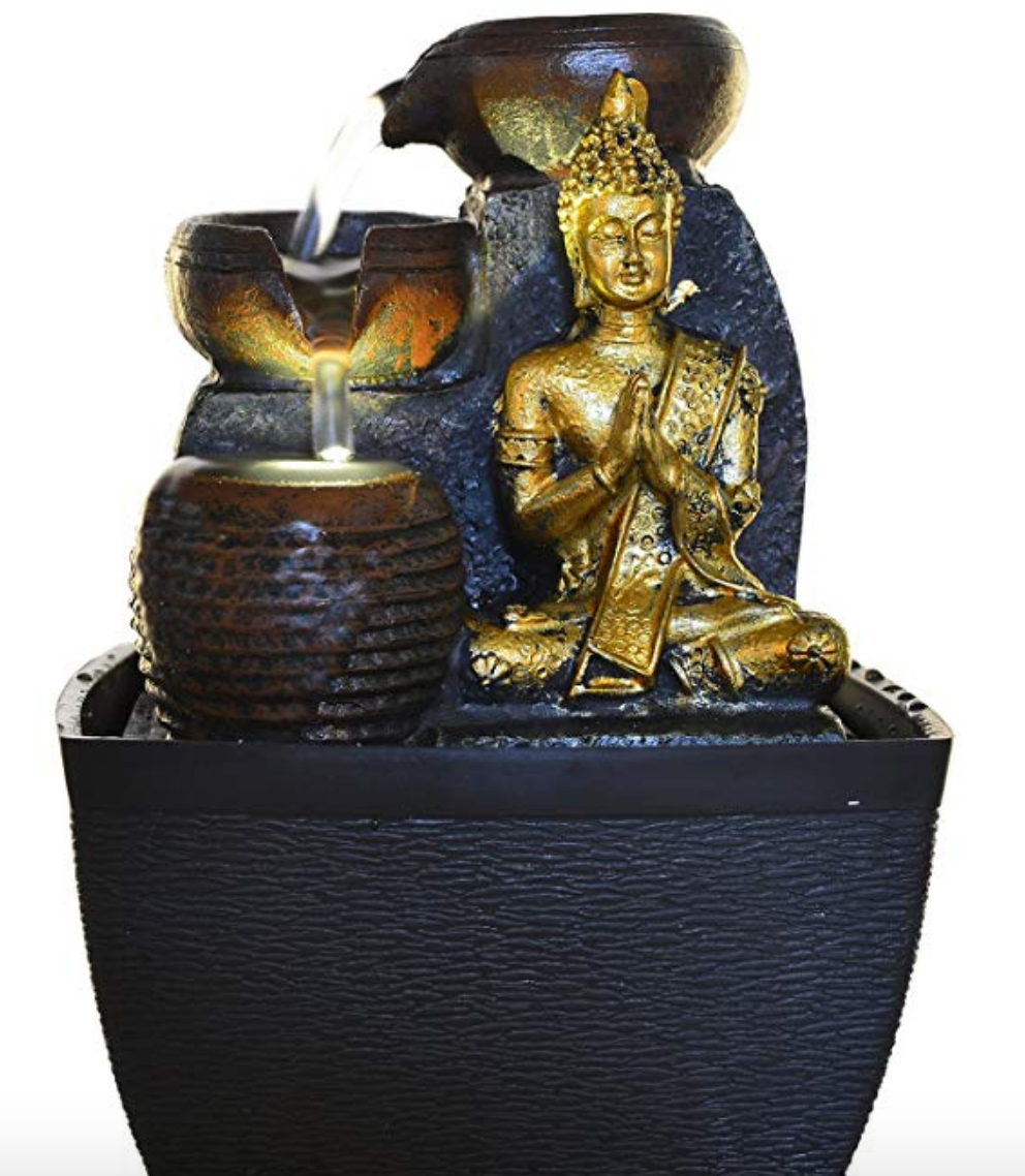 """Elephants Water Fountain Led Light Indoor//Outdoor Water Pump Included 10/"""" Inch"""