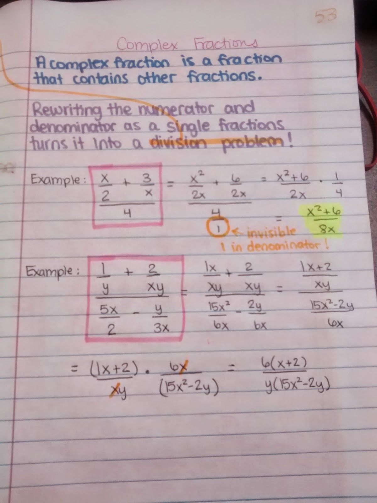Algebra 2 Interactive Notebook Pages Galore With Images