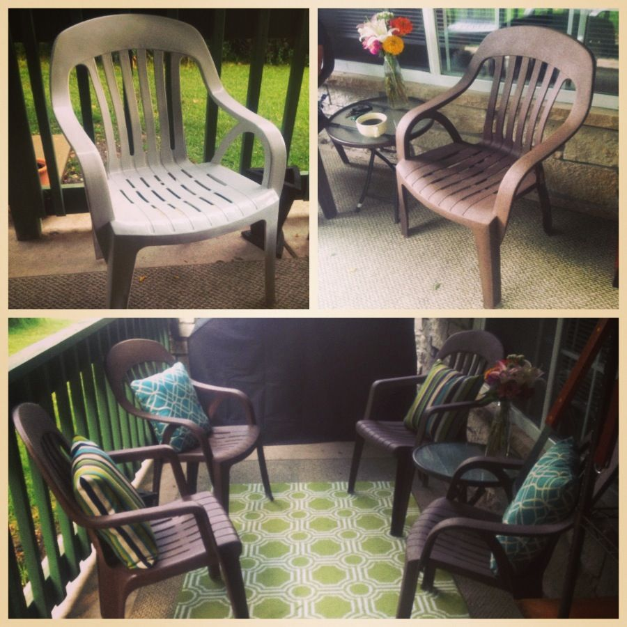 Redoing Plastic Lawn Chairs So You Don T Have To Buy New Furniture