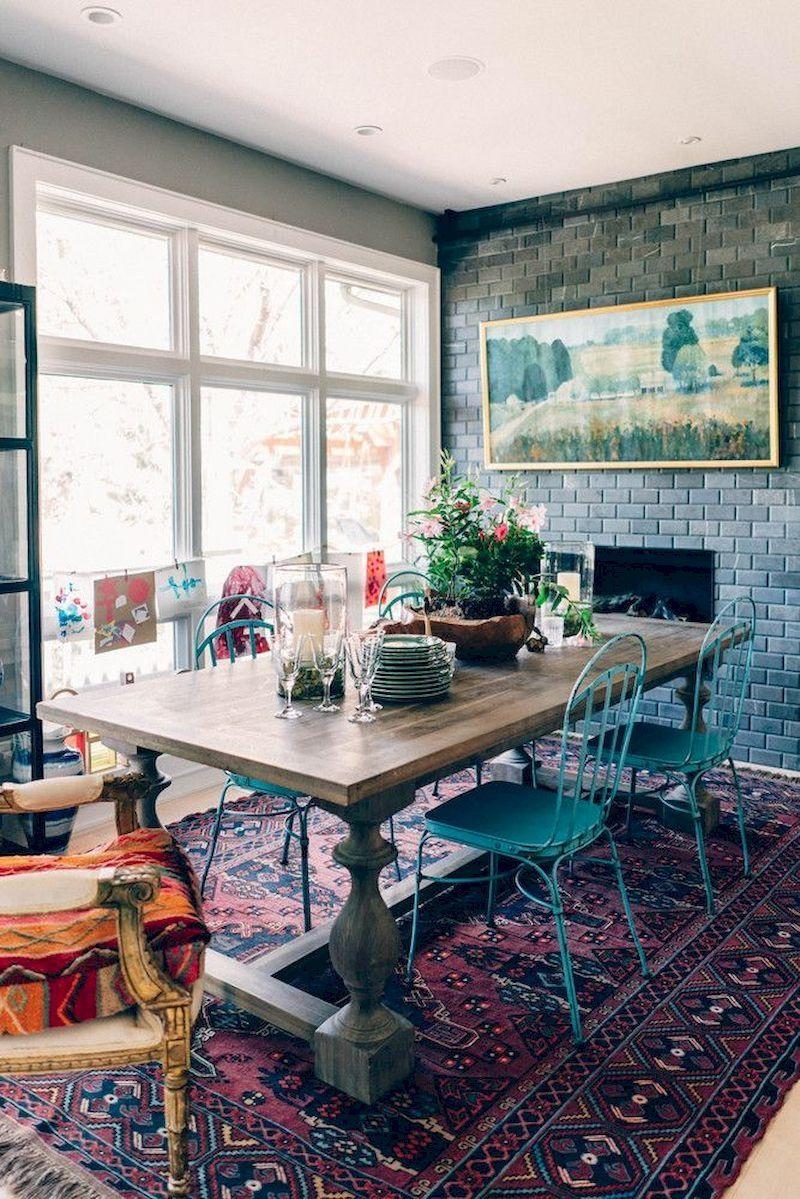 39 Beautiful Bohemian Dining Rooms Ideas We Love Eclectic Dining Room Bohemian Dining Room Boho Dining Room