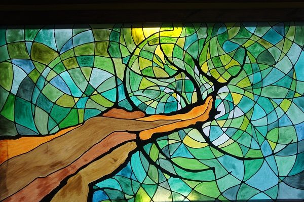 Standed Glass Tree Two Without A Clue, Stained Glass Trees Images