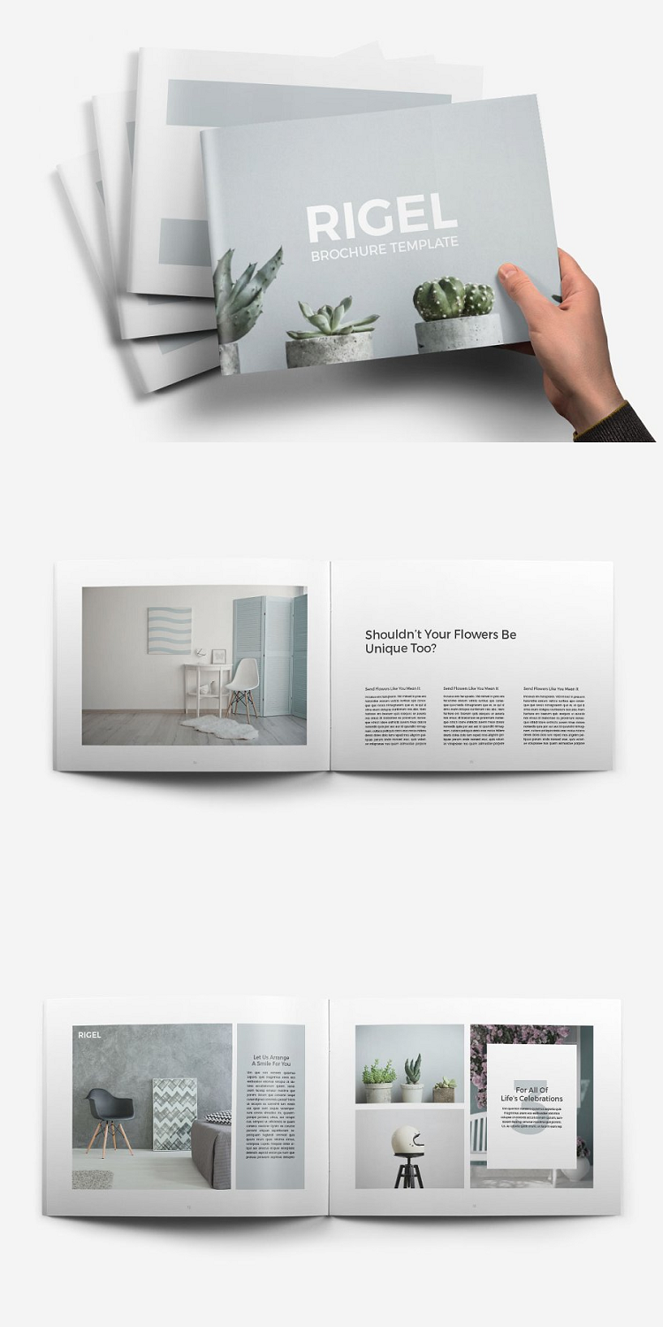 Rigel Publisher Brochure Template Brochure Template Templates Business Card Template