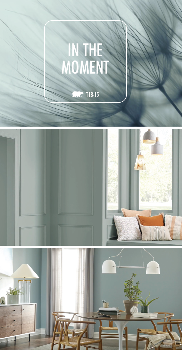The Cool Blue Hue Of In The Moment By Behr Paint Fits