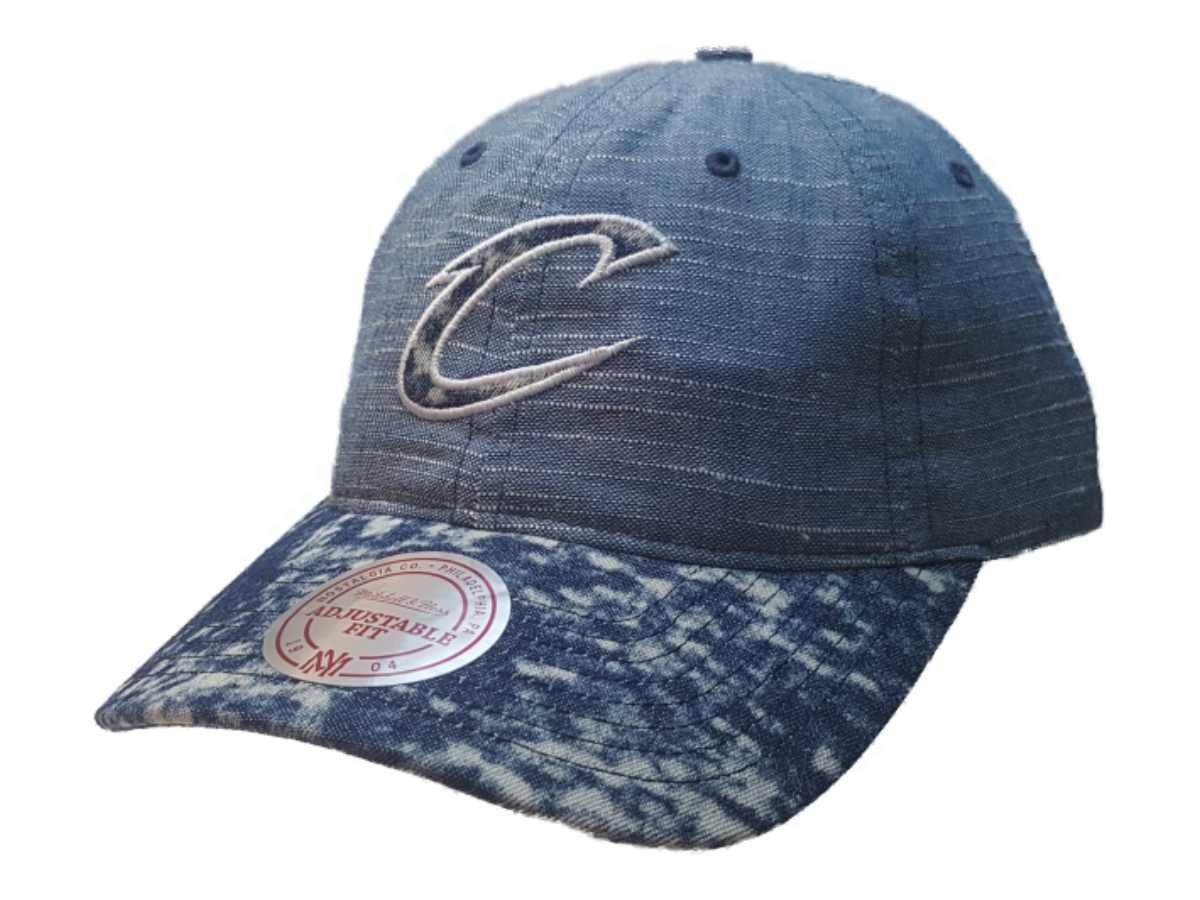 d4975f01f17 Cleveland Cavaliers Mitchell   Ness Denim Acid Wash Relaxed Baseball ...