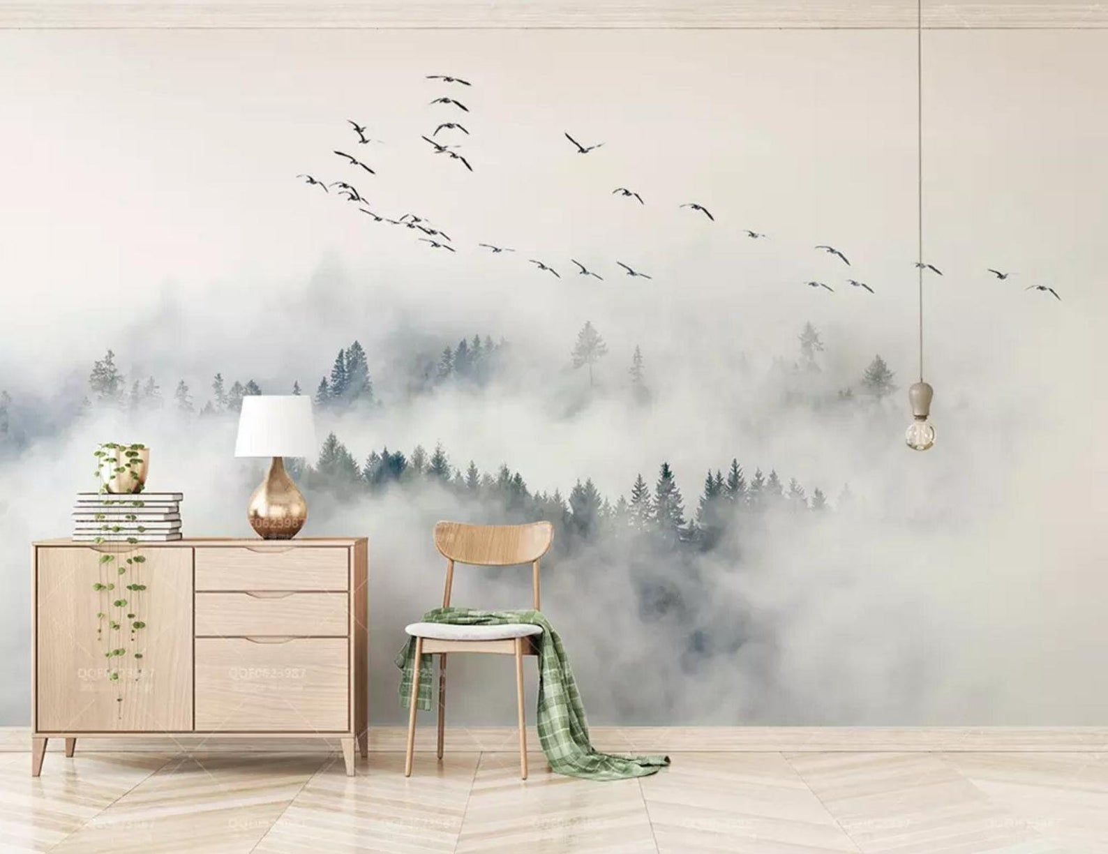 3d Dreams Clouds Forests Birds Wallpaper Removable Self Adhesive Wallpaper Wall Mural Vintage Art Peel And Stick Tapeten Tapeten Wandbilder Wandbild Wand