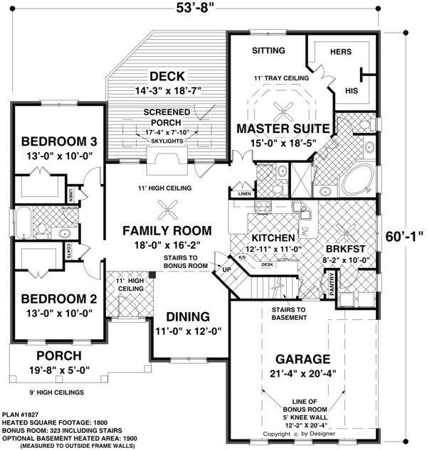 Single Level Floor Plans Unique House Plans Ranch House Plans Craftsman Style House Plans Craftsman House Plans