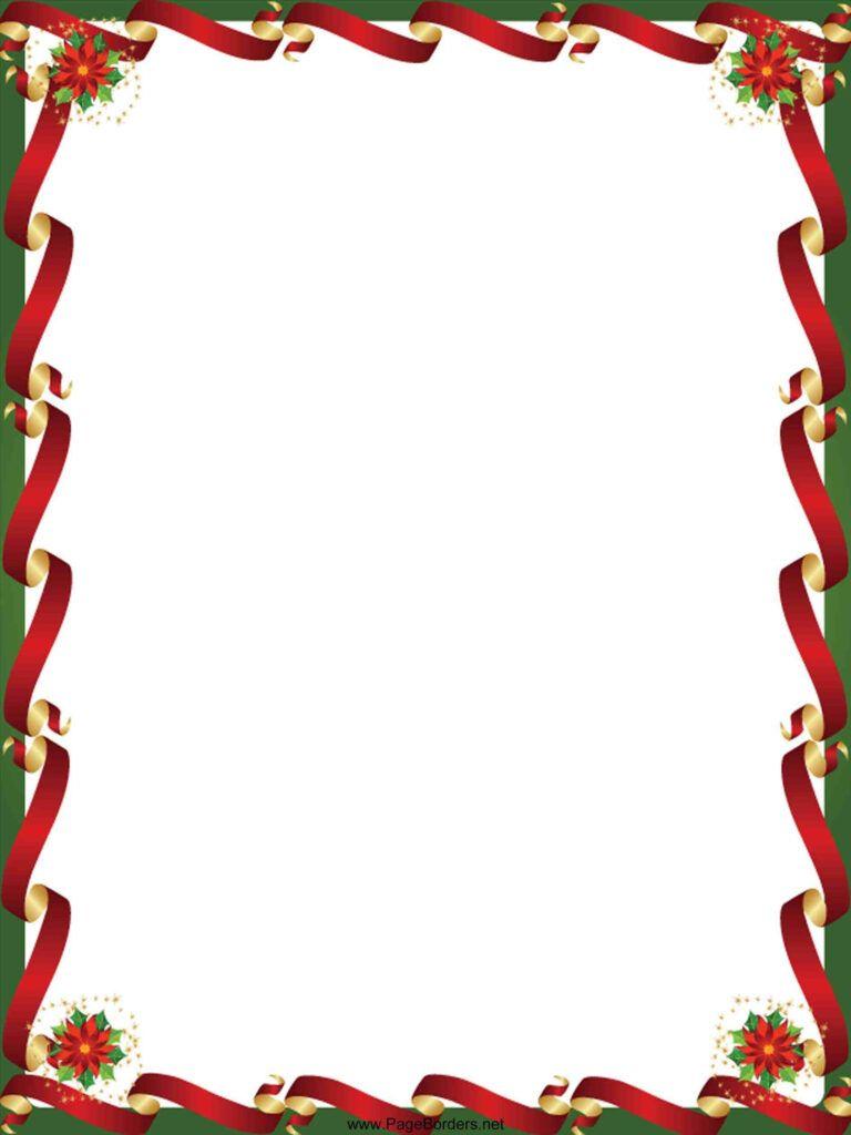 Border Clipart Downloadable Free Christmas Border Templates With Regard To Christmas Border Word Free Christmas Borders Christmas Images Free Christmas Border Festive borders for word document