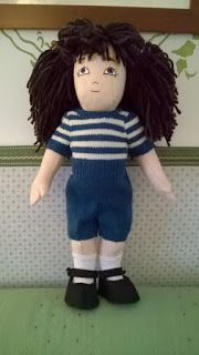 Zisa doll, hand knitted suit