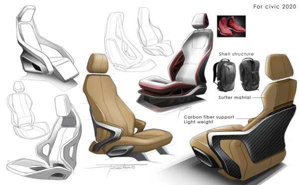 Car Seat Design On Behance Car Design Pinterest Cars Design