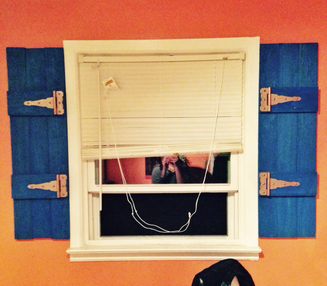 Handmade vintage interior shutters Super easy to make with 2x4