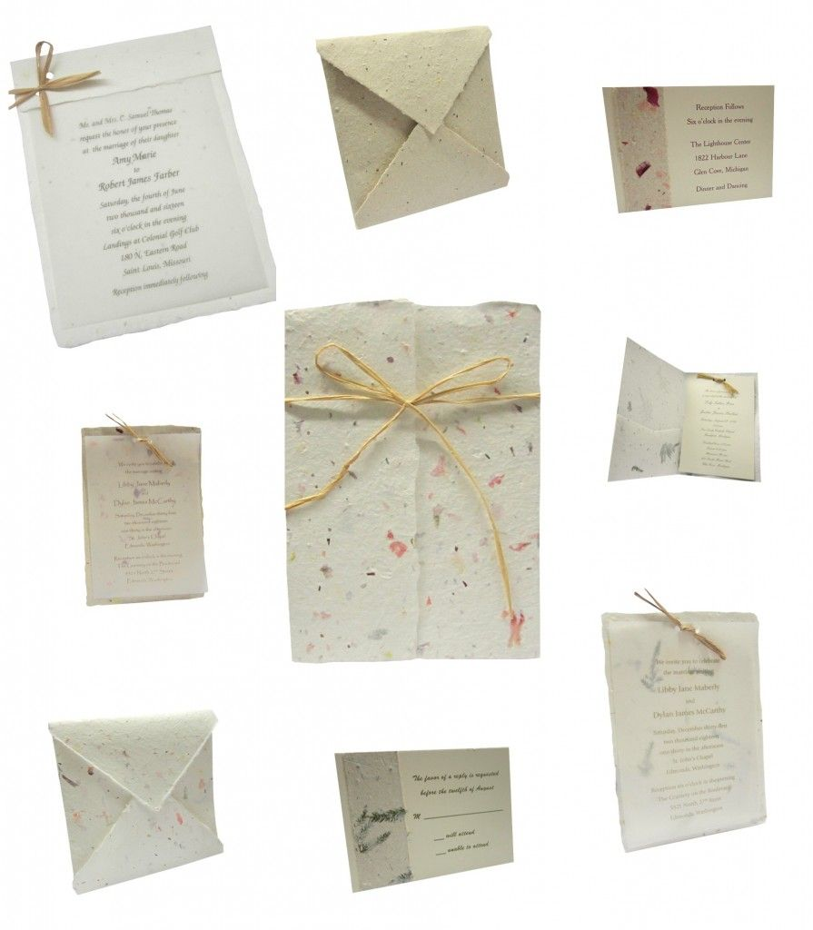 flower seed paper wedding invitations - 28 images - embrace ...