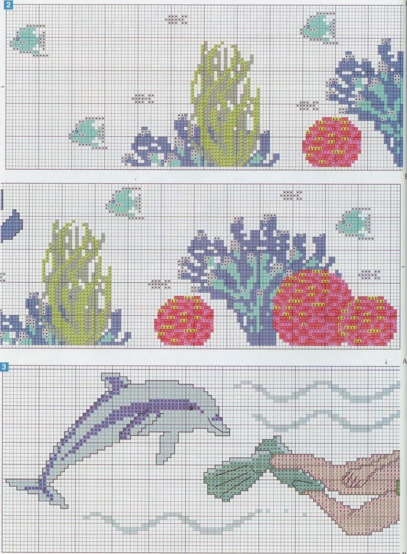 Schema punto croce Alghe   Cross Stitch Patterns ...