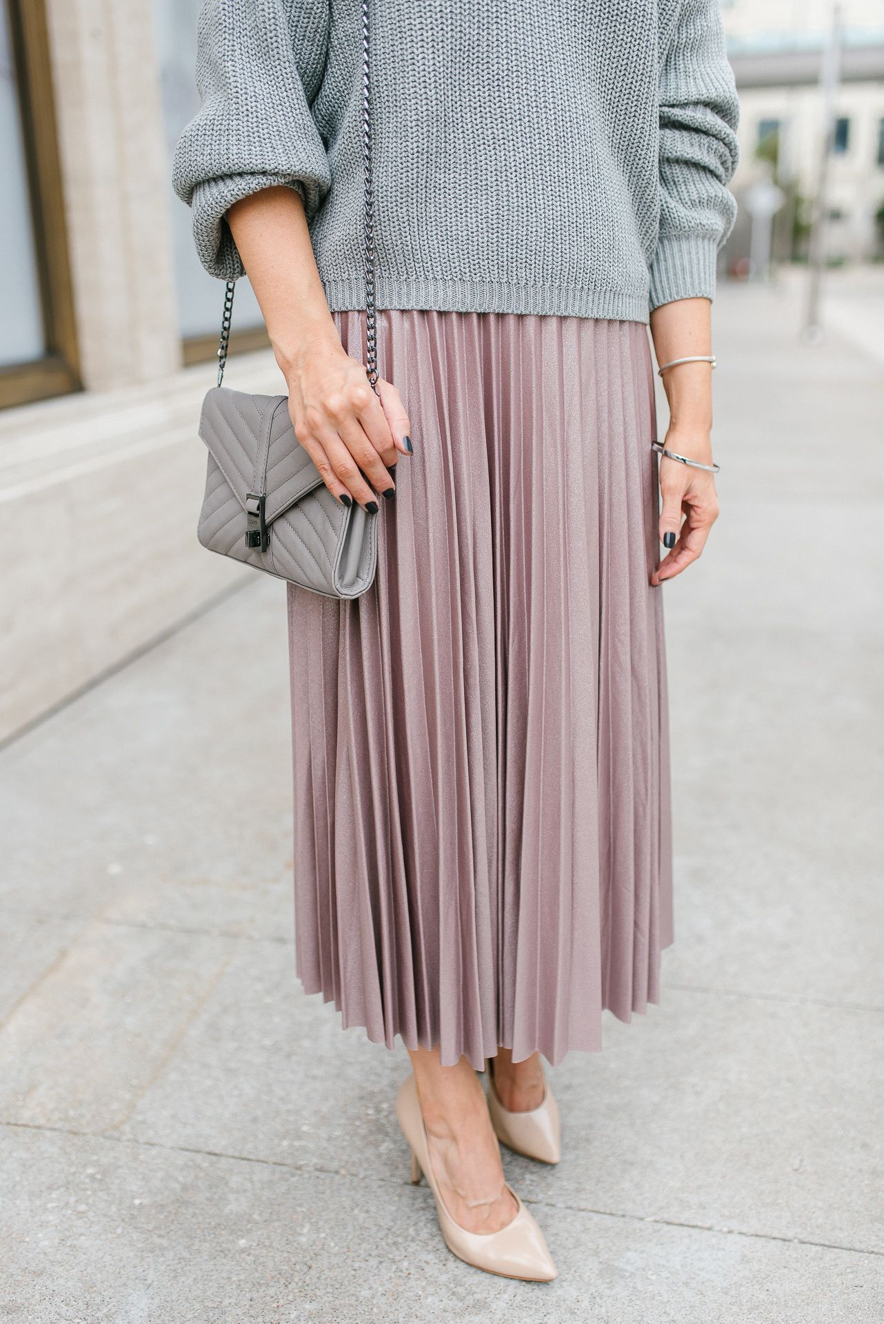 Sweater and Midi Skirt Outfit