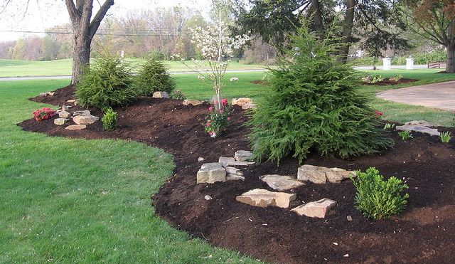 Landscaping Ideas For Flat Front Yard : Creating a berm how to use berms in the landscape