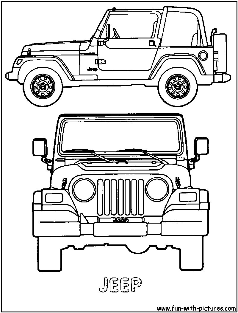 jeep-coloring-page.png (800×1050) | art | Pinterest | Perspectiva ...