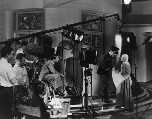 """Marion Davies during the making of """"Page Miss Glory"""""""