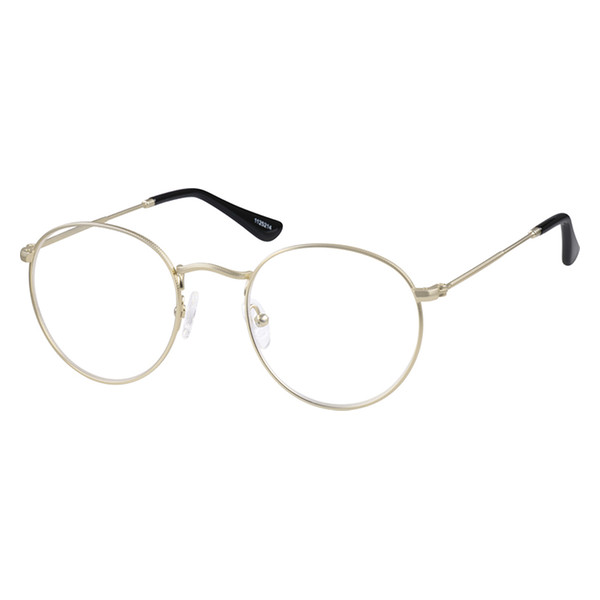 e33edae153 Zenni Sepulveda Retro Round Prescription Eyeglasses Gold Stainless Steel  1125214