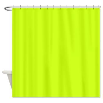 Wow What A Great Color Electric Lime Solid Color Shower Curtain
