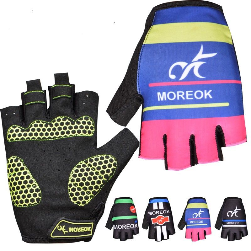 Moreok Pro Mountain Bike Sports Gloves 100 Lycra Breathable Racing Bicycle Glove 4 Color Brand Gel Pad Cycling Glove Cycling Gloves Bike Gloves Cycling Outfit