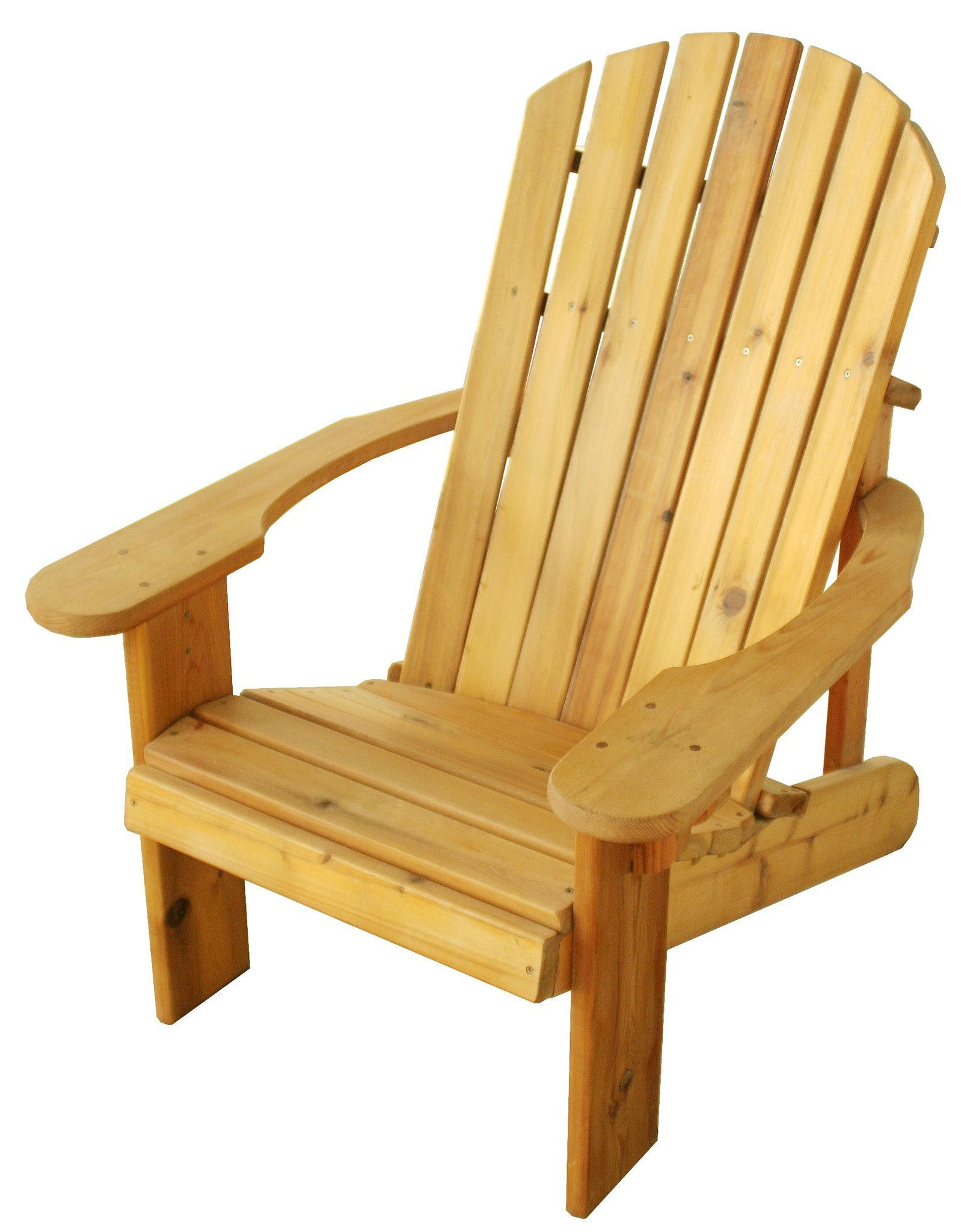 Our topselling conventional adirondack chair this species of cedar