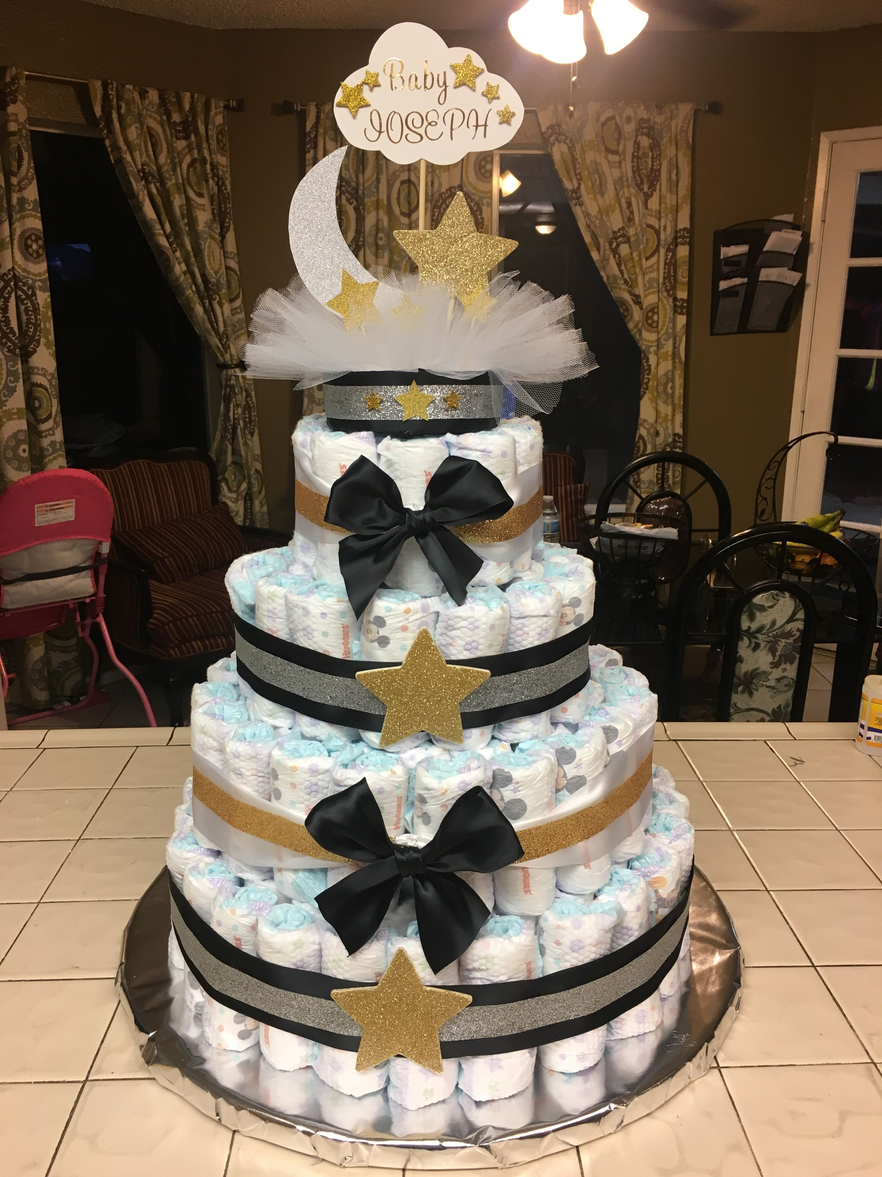 Twinkle Twinkle Little Star Baby Shower Diaper Cake With Images