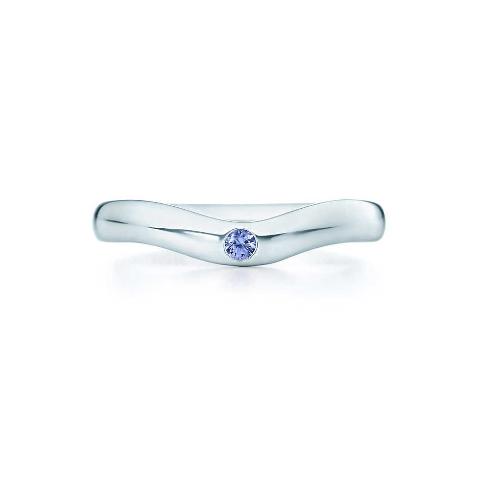 53b8f1e84 Elsa Peretti® Curved Band Ring in sterling silver with a tanzanite. |  Tiffany & Co.