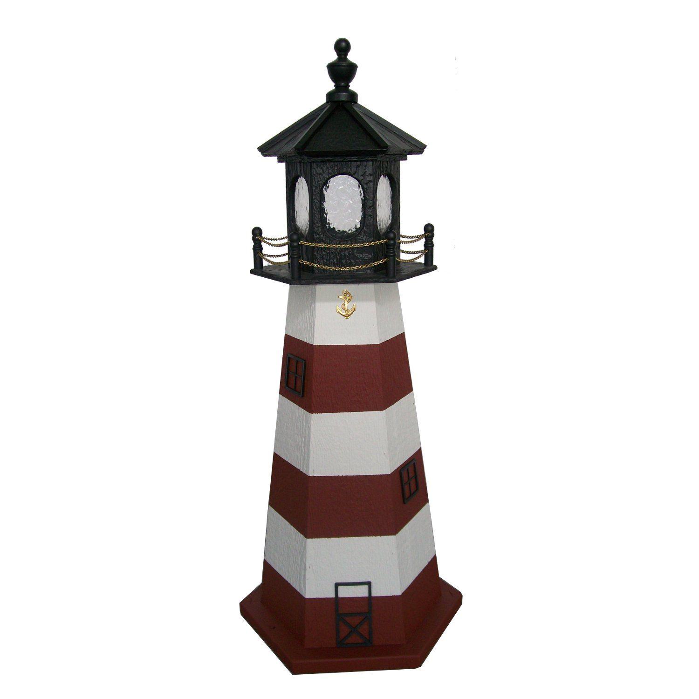 Lighthouse · Amish Made Assateague Style Wood Garden Lighthouse