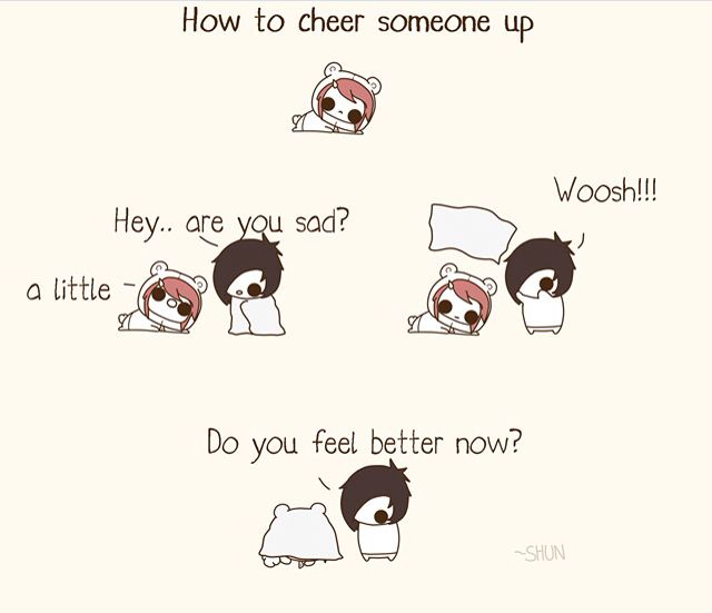 How To Cheer Someone Up Cute Comics Cheer Someone Up Kawaii Potato