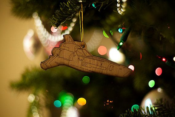 Battlestar Galactica Viper Christmas Ornament - Battlestar Galactica Viper Christmas Tree Ornament - Holiday Adama