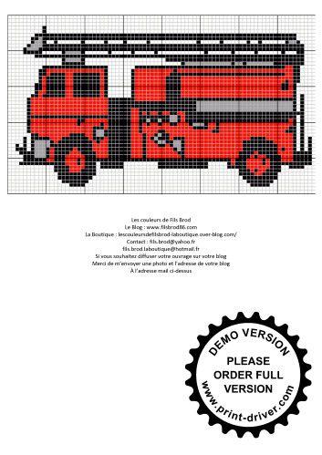 La Grille Gratuite Camion De Pompier Babalu Kleidung