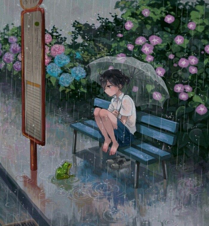 凄凉的雨,淋湿我的伤心。
