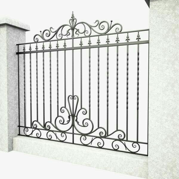 3d Model Wrought Iron Gate Wrought Iron Fences Wrought Iron Gates Iron Gate Design