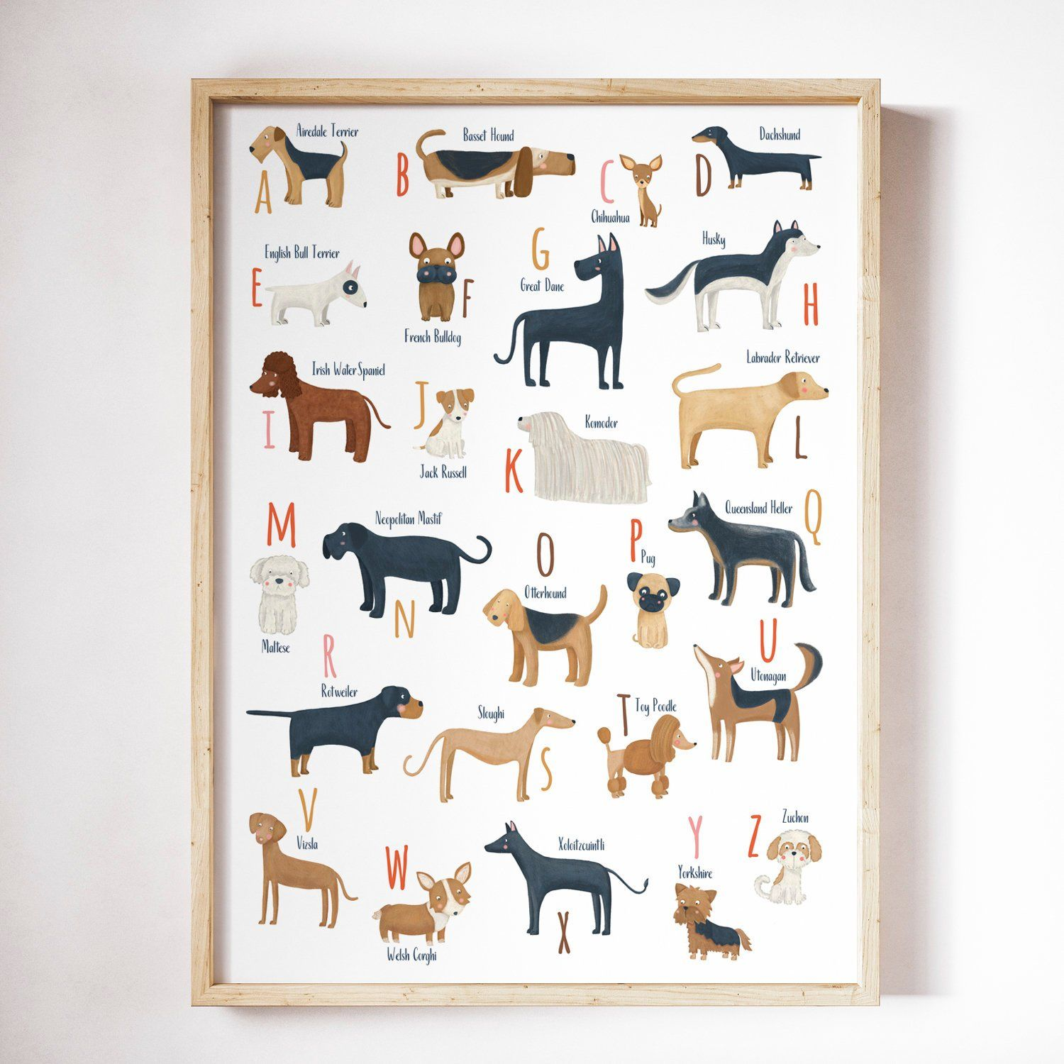 Printable Abc Dogs Breeds Dogs Alphabet For A Dog Lover Dog