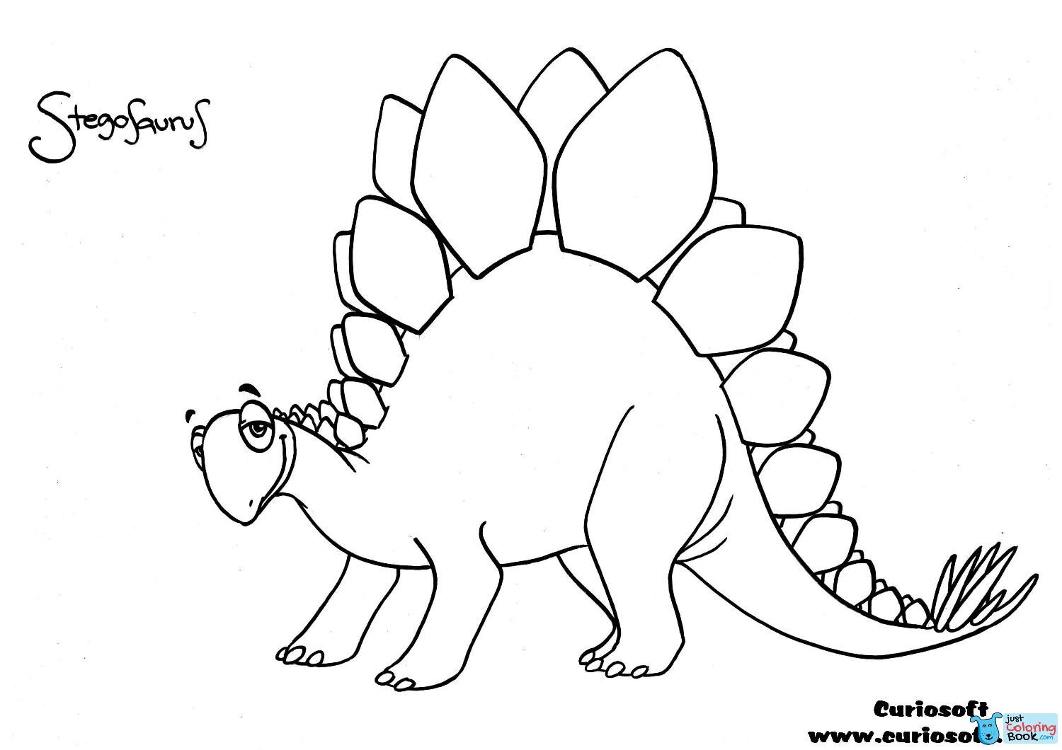 Stegosaurus Outline Pictures To Pin On Pinterest