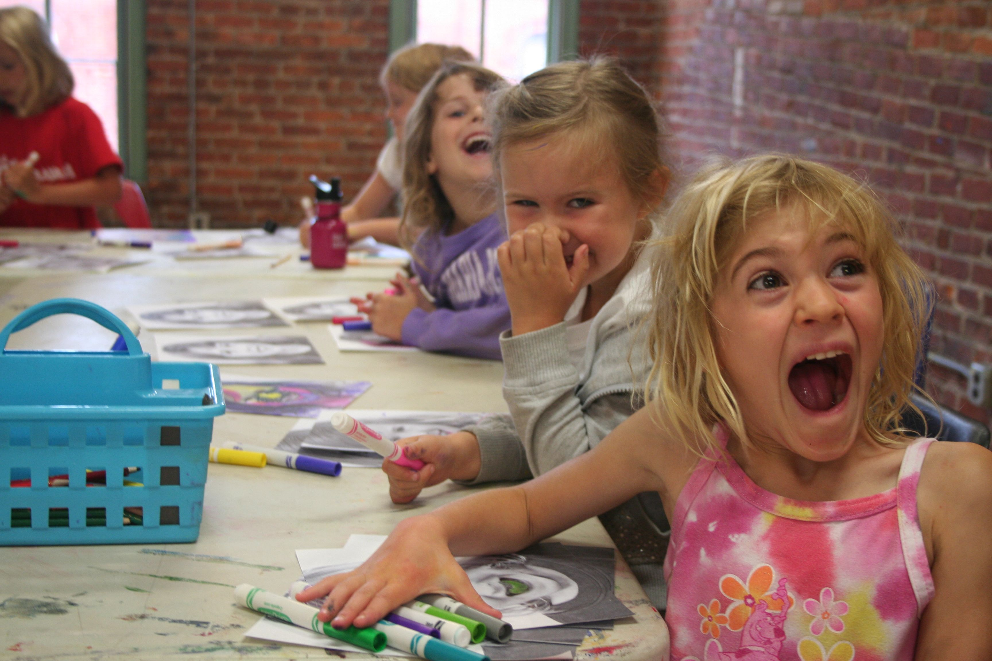 Having a blast during POP ART week of our Summer Multimedia Camp at the Ann Arbor Art Center. Kids made real masterpieces!