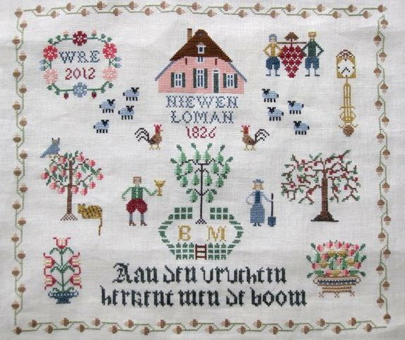 Dutch Sampler Designed And Executed For The Embroiderers Guild Of