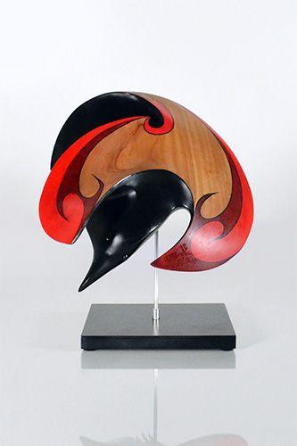Raven by Rex Homan, Māori artist (KR160402)