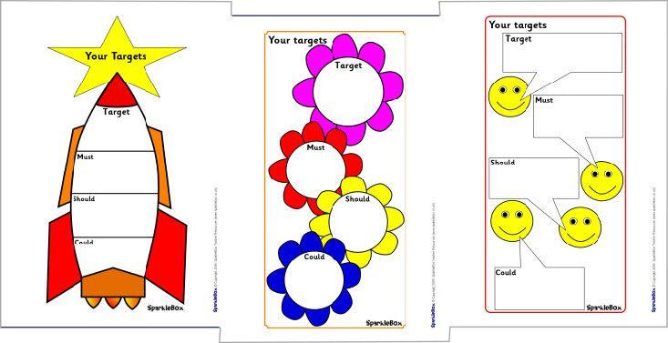Editable A4 target sheets (SB2825) - SparkleBox