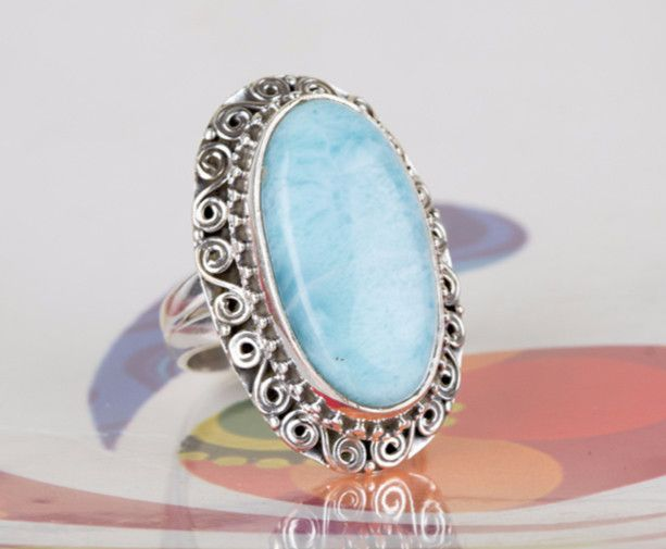 Larimar Ring 925 Silver Ring Wedding Ring Larimar rings Silver