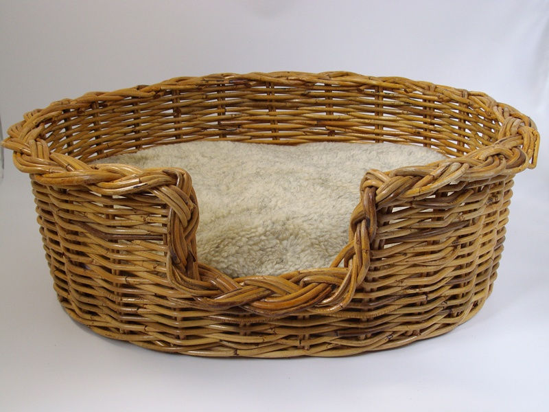 Rattan Dog Basket Extra Large 95cm With Cosy Sherpa Fleece Cushion Dogbedding Petnhome Dogbed Wicker Dog Bed Medium Dog Bed Dog Basket