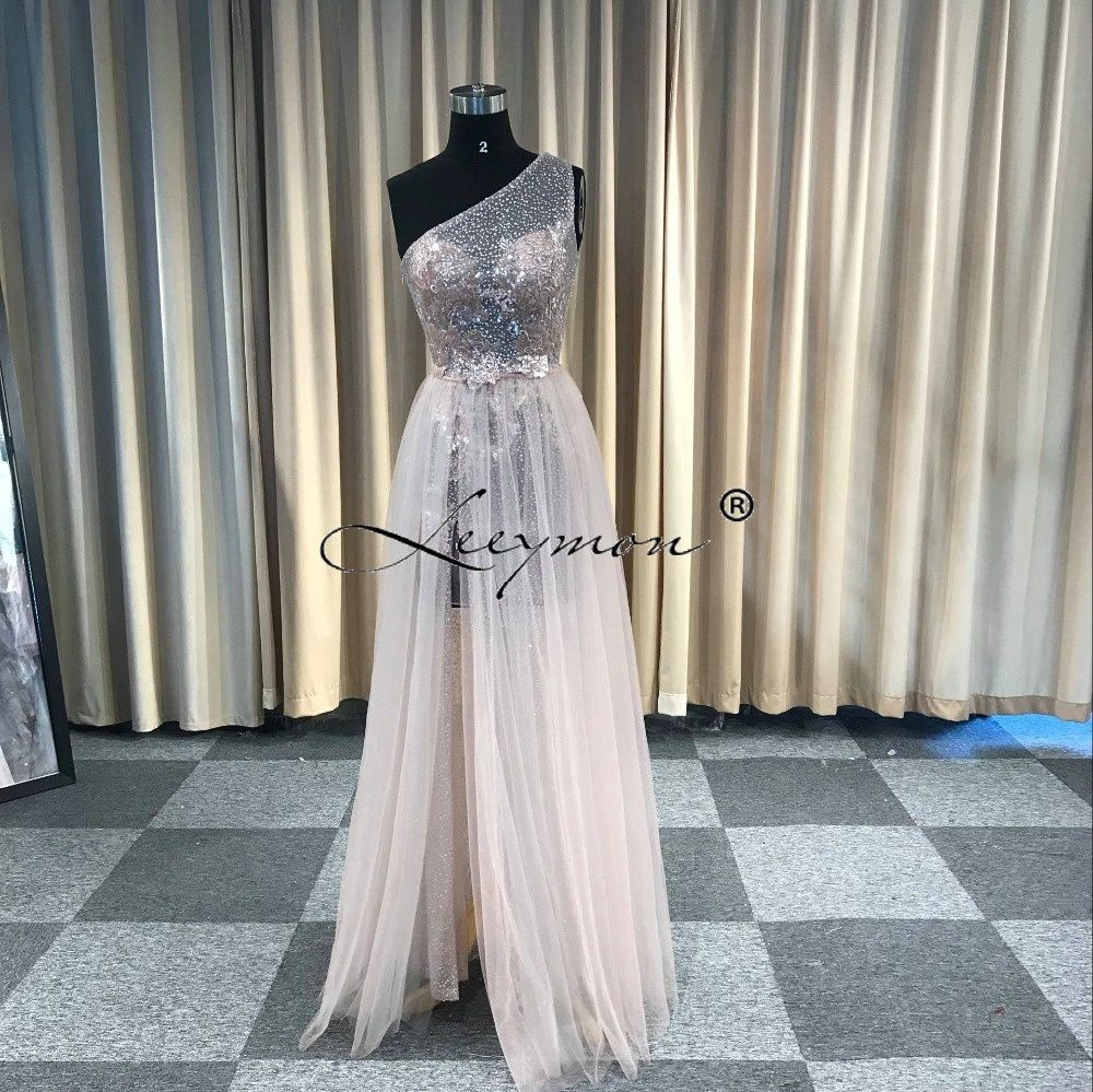 68797c55a3 BeryLove Sparkly Mermaid Grey Lace Evening Dresses Long Sequined Backless Prom  Dresses 2018 Women Formal Party Gowns For Pr…
