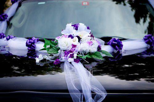 Purple and lavender car arrangement