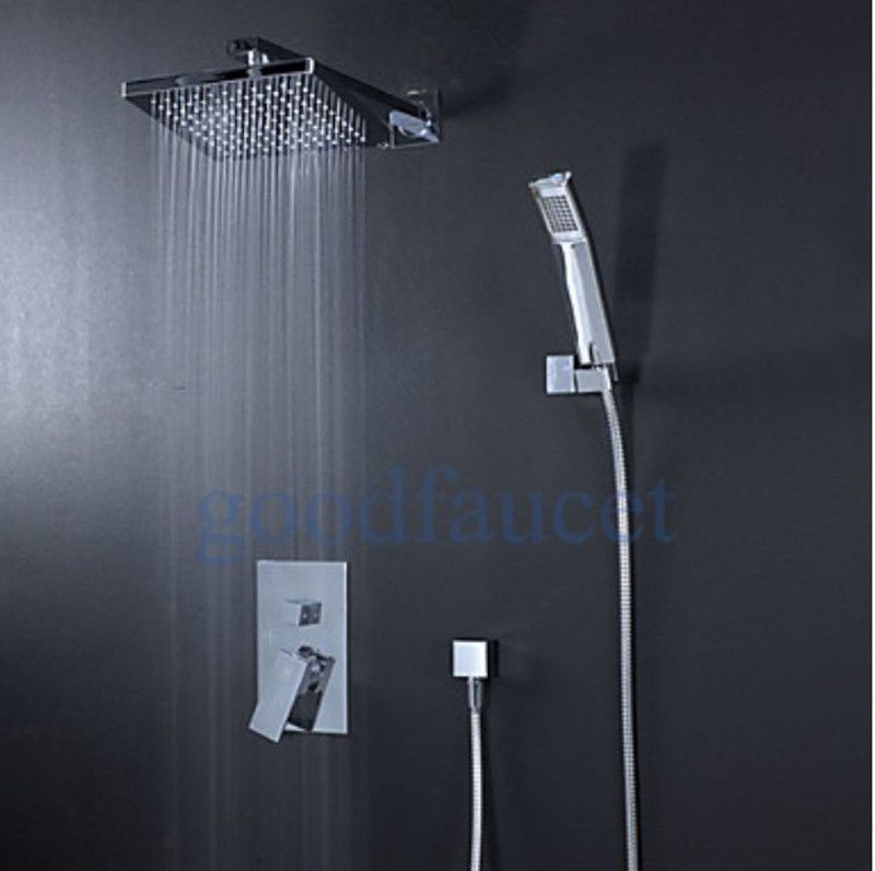 Free Rain Shower Faucet Set With 8 Inch Shower Head And Handheld