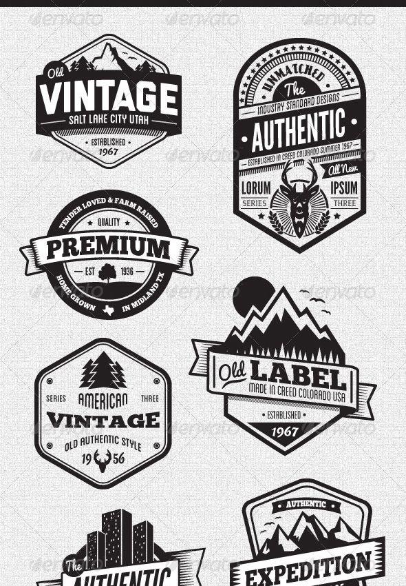 25 packs  u00e0 d u00e9couvrir pour r u00e9aliser un effet de logo vintage original